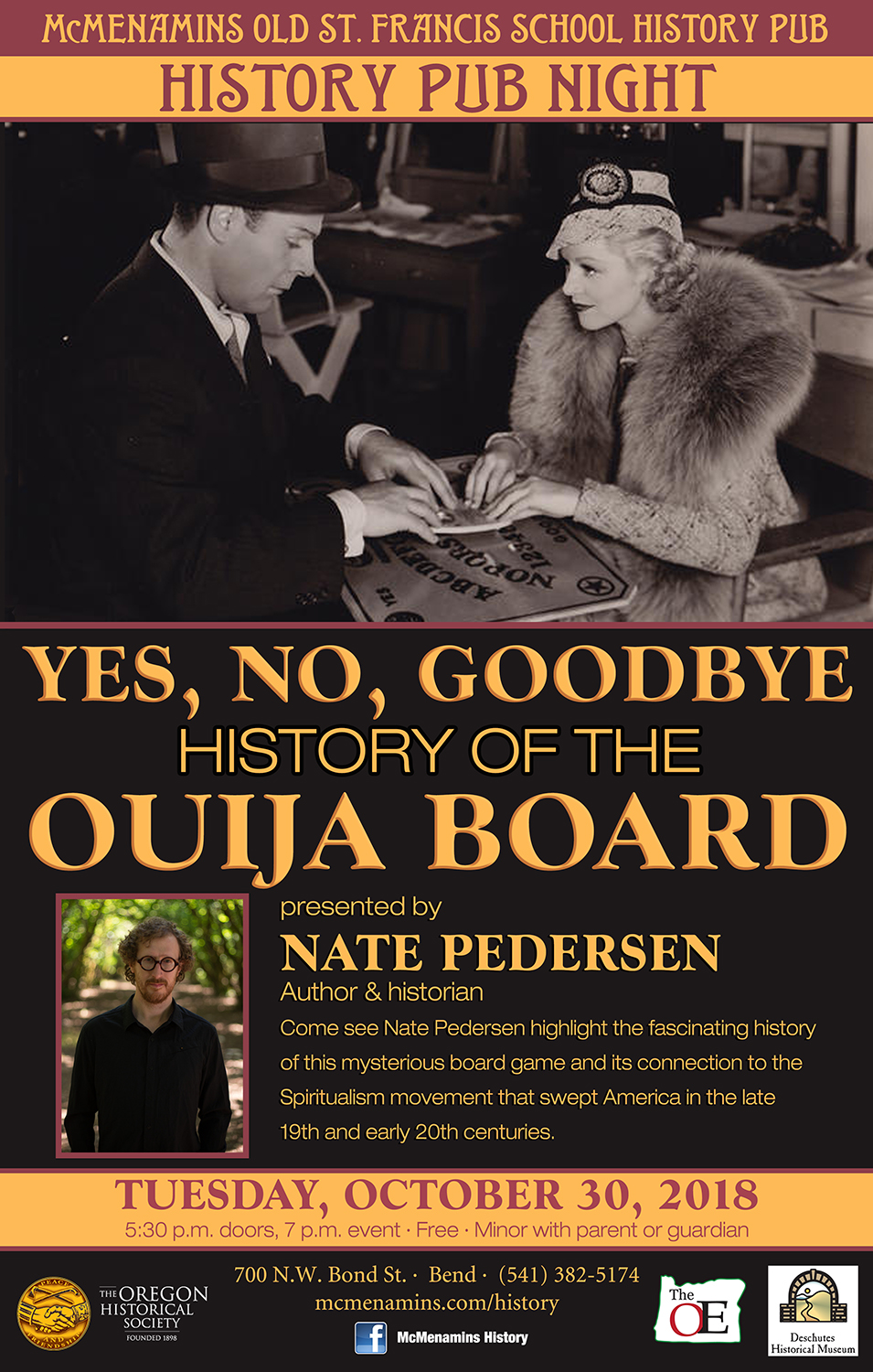 History Pub: Yes, No, Goodbye: A History of the Ouija Board